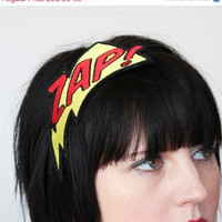 Headband ZAP Superhero Headband Yellow and Red by JanineBasil