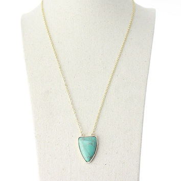 Shiny Jewelry Gift Stylish New Arrival Simple Design Style Turquoise Necklace [4956884612]