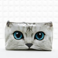 Large Cat Wash Bag in Silver - Urban Outfitters