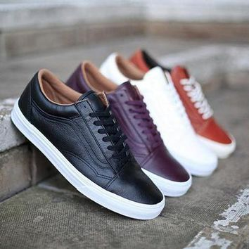 Vans Old Skool Leather Sneakers Sport Shoes