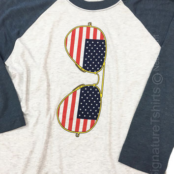 American Flag Sunglasses Shirt. Unisex t-shirt. Funny USA Sunglasses shirt. Team USA tee shirt. Gift for sister. Birthday gift. Sport jersey