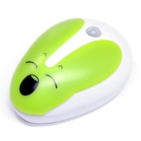 Rabbit USB Motion Light+Voice Controlled LED Desk Table Lamp     green body induction