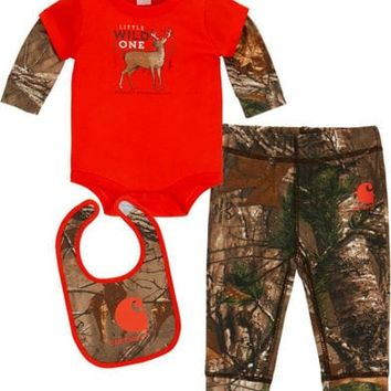 Carhartt Infant Boys' Camo Wild One 3 Piece Set