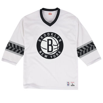 Mitchell & Ness Pick-Up Game Top Brooklyn Nets In White