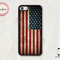 American Flag iPhone 5C Case, iPhone Case, iPhone Hard Case, iPhone 5C Cover