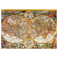 Illustrated World Map Decal