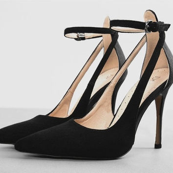 Womens Fashion Ankle Strap High Heels