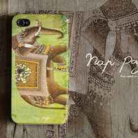 Apple iphone case for iphone iphone 5 iphone 4 iphone 4s iPhone 3Gs  : Abstract vintage India elephant