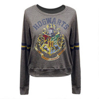 Hogwarts Crest Long Sleeve Tee with Stripes | HarryPotterShop.com