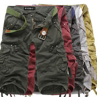 Military Army Long Utility Shorts