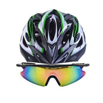 Free Sport Cycling Glasses Bicycle Helmet Bike Goggles Helmets Mtb Mountain Motorcycles Helmet Safety Caps For Men's Woman