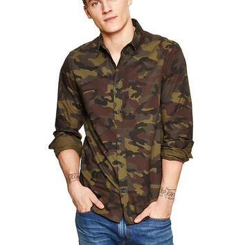 Modern Oxford Camo Print Shirt