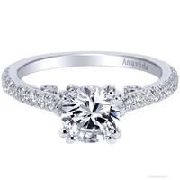 "Gabriel Amavida ""Janine"" Classic Shared Prong Diamond Engagement Ring"