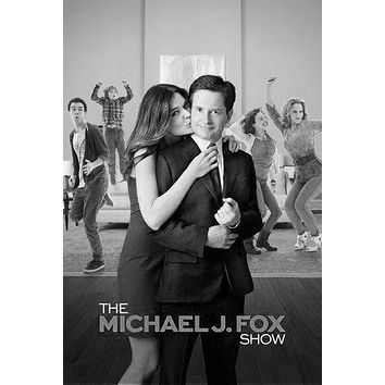 Michael J Fox Show poster Metal Sign Wall Art 8in x 12in Black and White