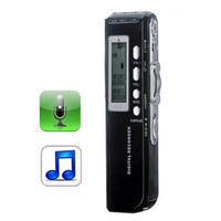 4GB Digital Voice Recorder Dictaphone MP3 Player, Support Telephone recording, VOX function, Power supply: 2 x AAA battery
