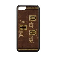 COOL Once Upon A Time Case For iPhone 5C Case ( Laser Technology )Black 100% TPU iPhone Case