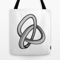 Shape 1 Tote Bag by White Print Design
