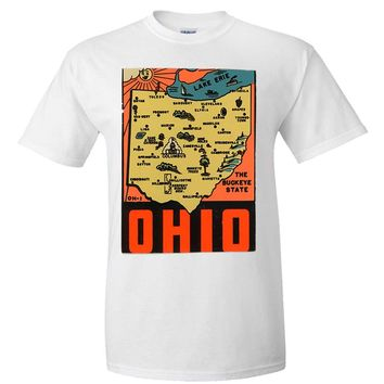 Vintage State Sticker Ohio Asst Colors T-shirt/tee