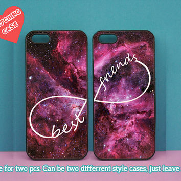 iphone 5C case,best friends,two pcs,iphone 5S case,iphone 5 case,iphone 4 case,ipod 4 case,ipod 5 case,Blackberry Z10 case,Q10 case