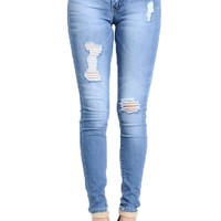 Kan Can Light Blue Ankle Skinny Jeans