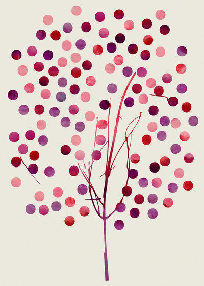 Tree of Life_Berry Art Print by Garima Dhawan | Society6