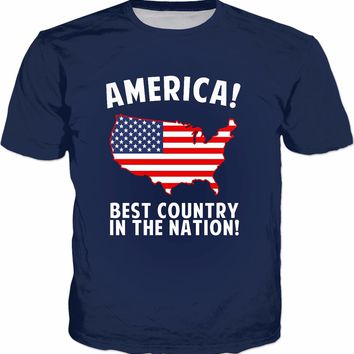 America Best Country In The Nation T-Shirt - Funny USA