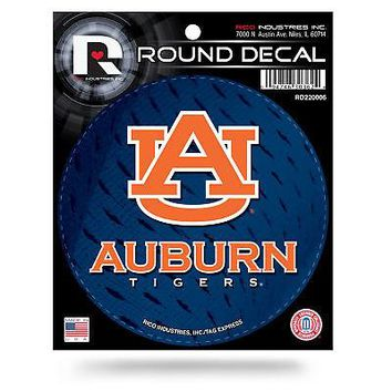 """Licensed Auburn Tigers Official NCAA 4.5"""" Round Decal War Eagle by Rico Industries KO_19_1"""