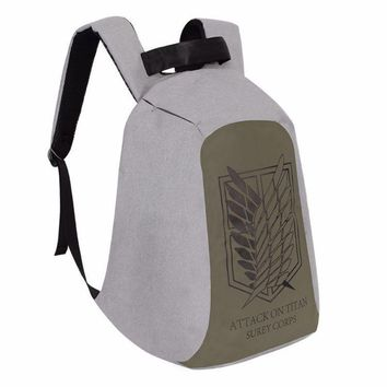 Cool Attack on Titan Anime  Laptop Backpack Cosplay no  Anime Shoulder Travel Bags Student School Bags Boobkag AT_90_11