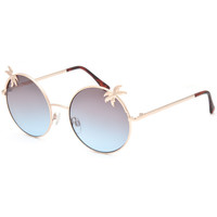 FULL TILT Round Palm Tree Sunglasses | Sunglasses
