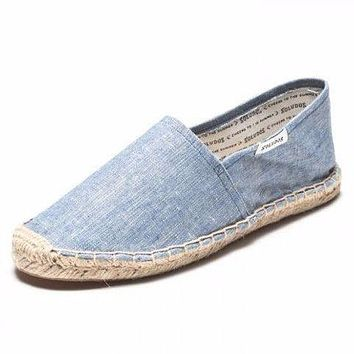 Classic Denim Espadrille in Chambray Blue by Soludos - FINAL SALE