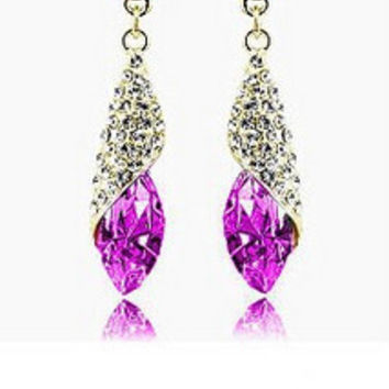 Shining Crystal Rhinestone Drop Earrings