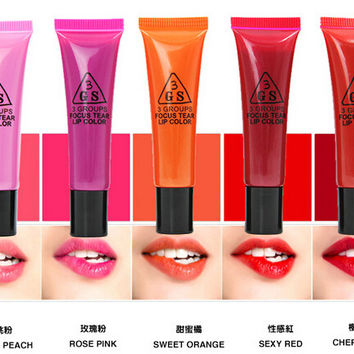 DHL 20 Packs=100pcs Beauty Lip Gloss Waterproof Long Lasting Liquid Matte Lipstick Magic Brand Color Batom