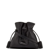 Flamenco 36 Calfskin Drawstring Bag, Black - Loewe