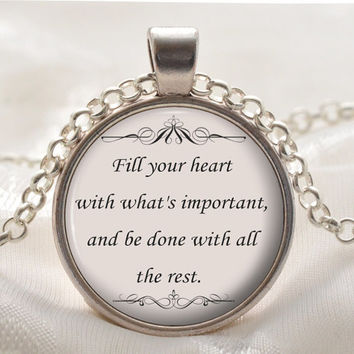 La Dispute Song Quote Pendant - Inspirational Romantic Lyric Necklace - Silver Jewelry Gift for Girlfriends and Friends at Christmas