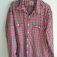 Red, White, & Black checkered authentic broken in Jcrew workshirt
