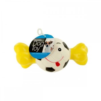 Squeaky Sports Ball With Bone Dog Toy DI270
