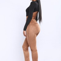 Shailani Suede Leggings - Tan
