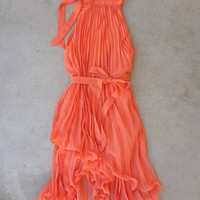 Tangerine Charming Party Dress