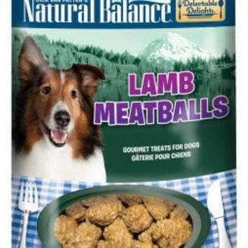 NA DOG TREAT - MEATBALLS LAMB DOG TREAT 4OZ - DELECTABLE DELIGHTS - NATURAL BALANCE PET FOODS - UPC: 723633440943 - DEPT: NATURAL BALANCE