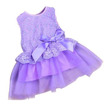 2017 Cute Brand Baby Dress Princess Wedding Party Lace Flower Baby Girls Dresses Sleeveless Newborn Infant Girl Dress 9 colors