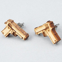 The Baretta Stud Earrings in Natural