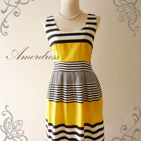 SALE TODAY--Amor Vintage Inspired- Chilling Princess- Juicy Yellow Shade Cotton Dress for Any Occasion-Fit S-M-