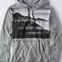 AEO Men's Photo Real Hoodie T-shirt (Grey)