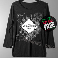 The Marauder's Map Shirt Harry Potter Map Shirts Long Sleeve TShirt T Shirt - Size S M L