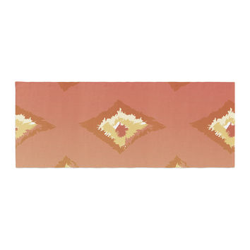"Alison Coxon ""Coral Ombre Ikat"" Orange Yellow Bed Runner"