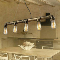 Sale! Pipe Series E27 Bulbs Edison Personalized Bar Lighting Vintage Pendant Light Water Pipe Lamp Bulbs included!!!