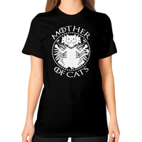 Mother of cats Unisex T-Shirt (on woman)