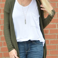 Spice Of Life Cardigan - Olive
