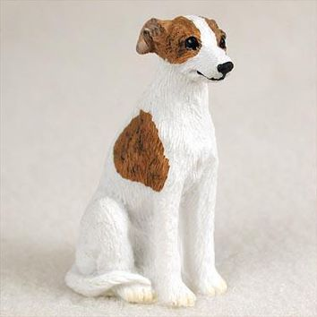 WHIPPET BRINDLE & WHITE TINY ONE FIGURINE