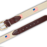 BOSUN BELT TAN WITH AMERICAN FLAG